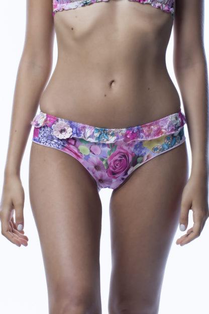 Culotte bikini a fiori rosa easybikini