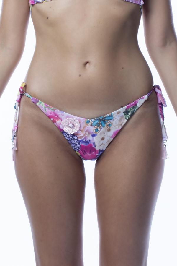 Micro slip bikini a fiori rosa easybikini
