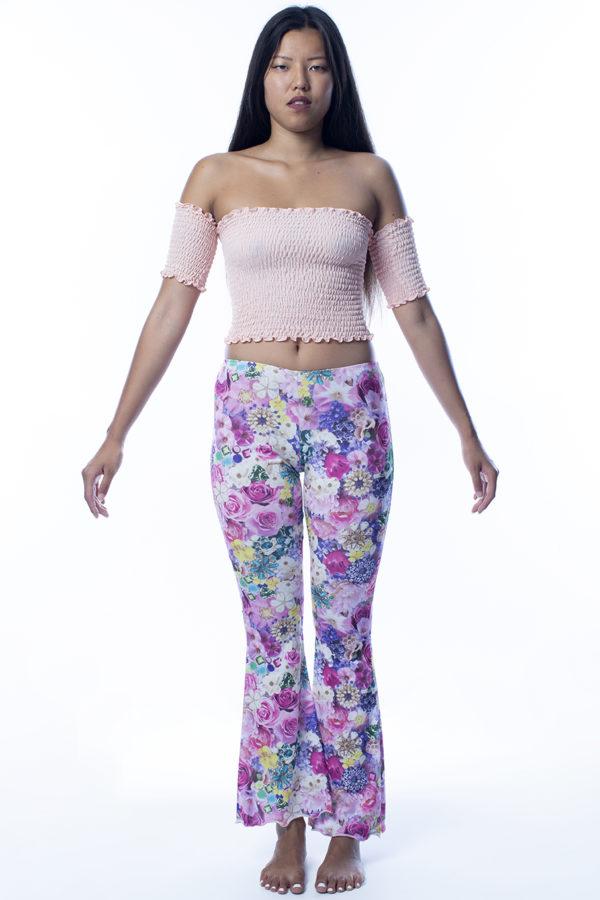Pantalone a fiori rosa easybikini