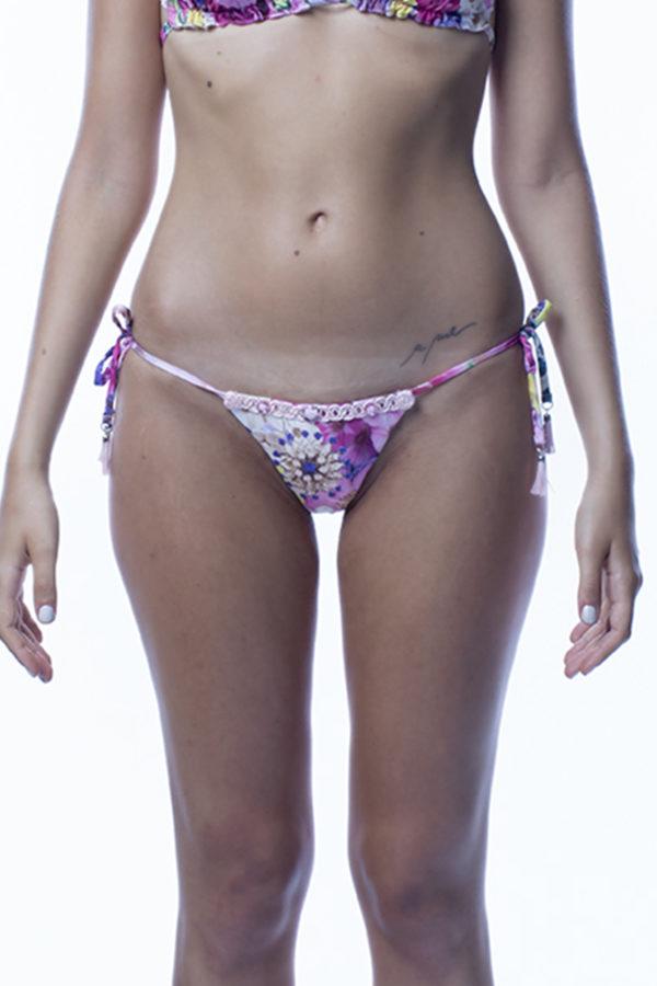 Slip bikini a fiori rosa easybikini