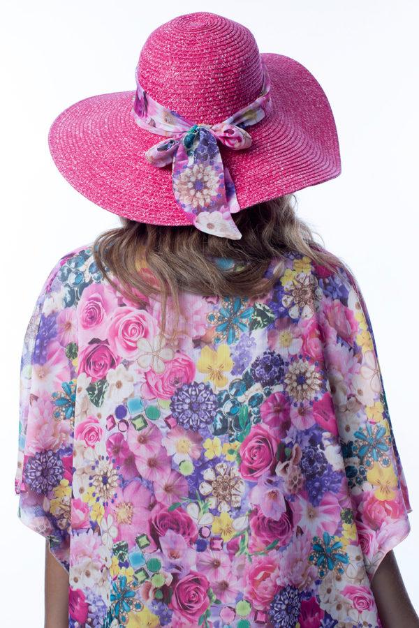 Spolverino copri bikini a fiori rosa easybikini