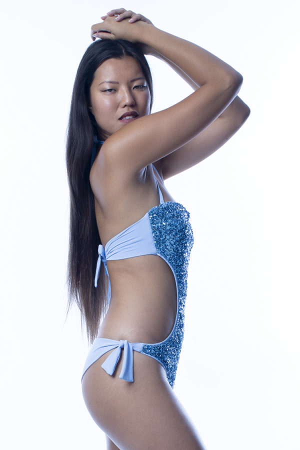 Trikini pailettes azzurro easybikini