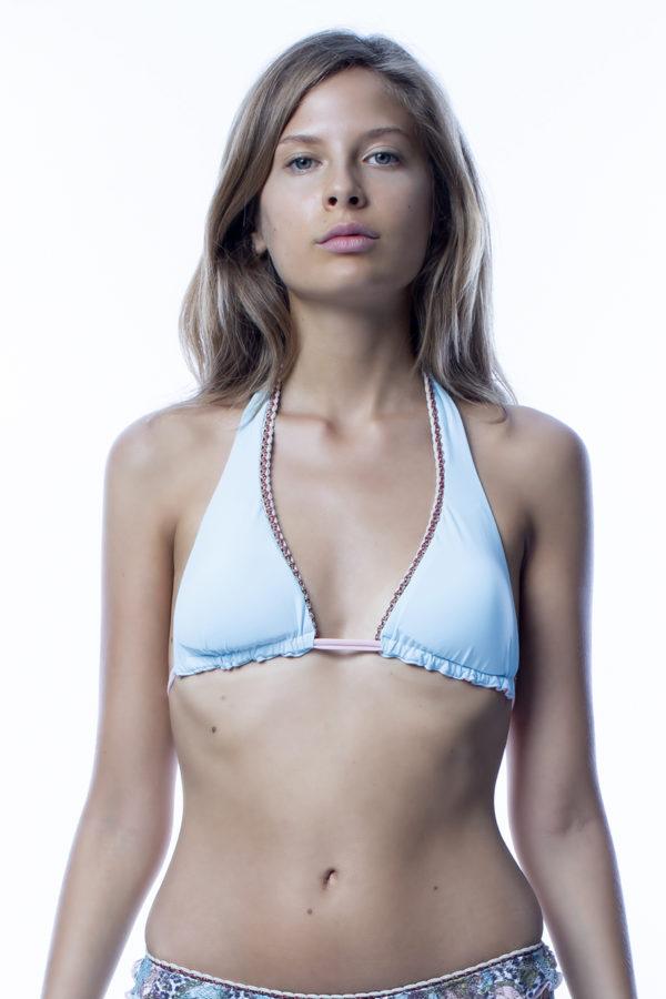 Vela top bikini azzurro easybikini